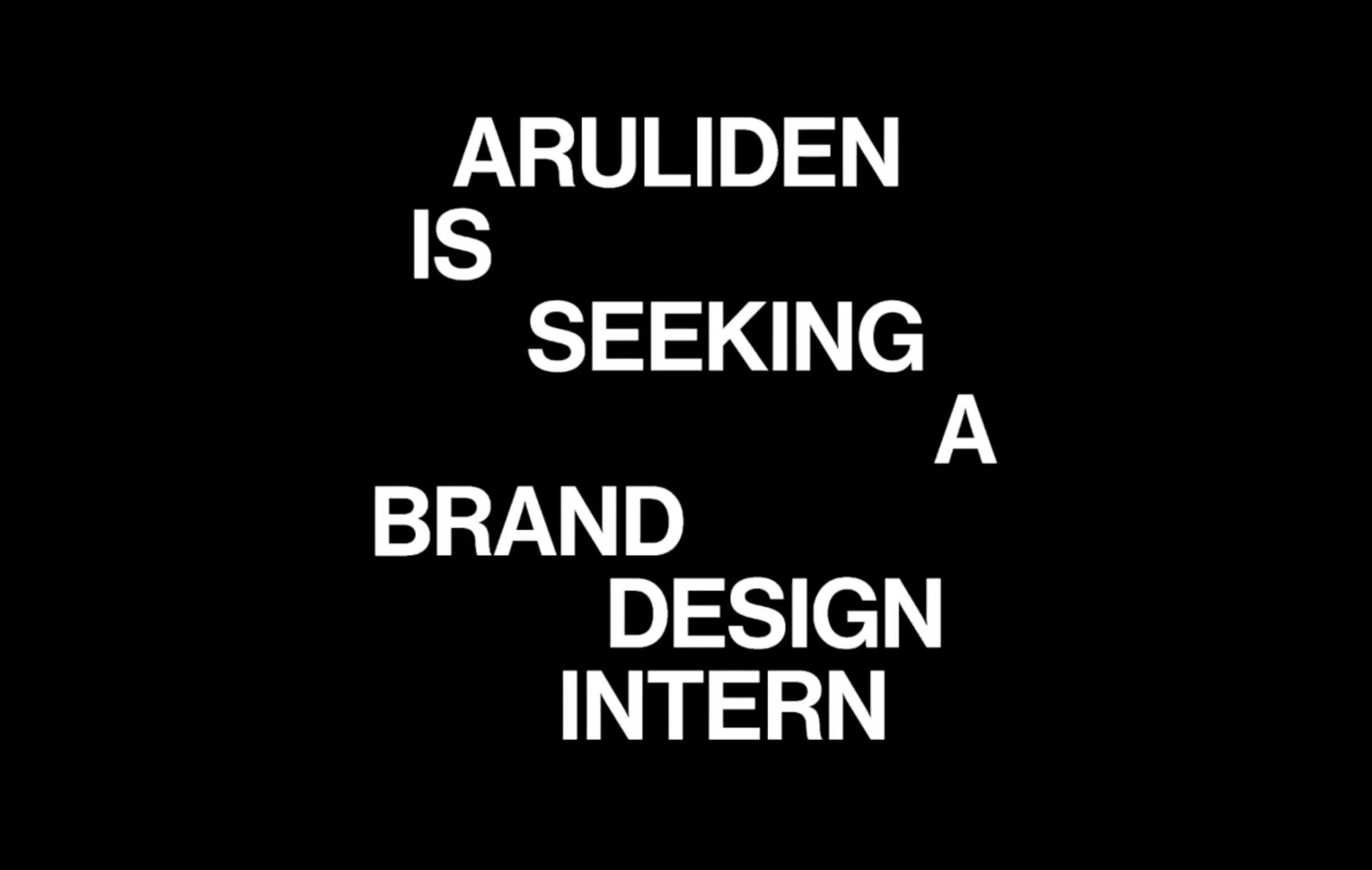 We're hiring: Design Intern, New York